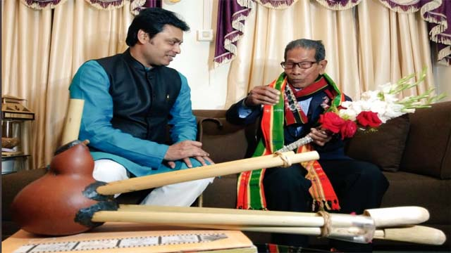 Tripura CM Biplab Kr Deb extended greetings traditional Rosem artist of Tripura Padma Shri Thanga Darlong on his 100th birthday on July 20, 2020