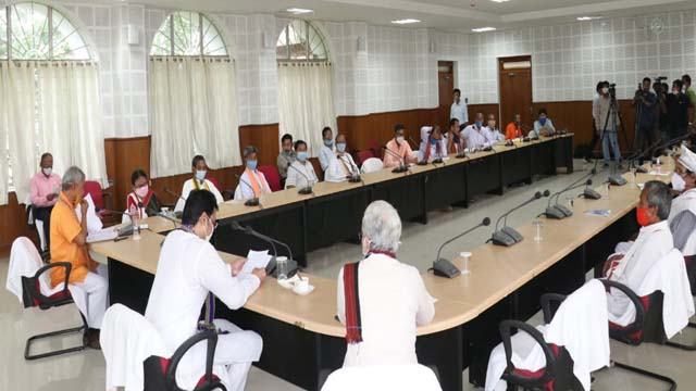 Tripura CM Biplab Kr Deb held a meeting with community leaders of State