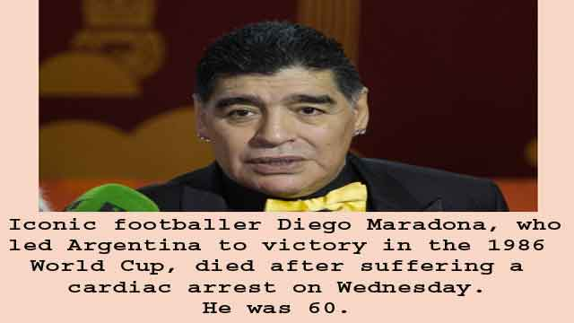 Diego Maradona no more, IANS reports on November 24, 2020