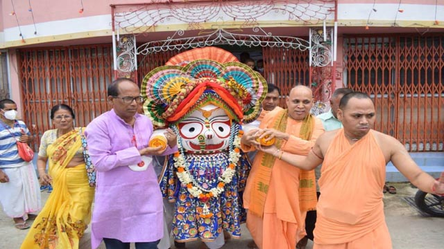 Phira Rath (Return Rath) Yatra of Jagannath held in Agartala on July 1, 2020