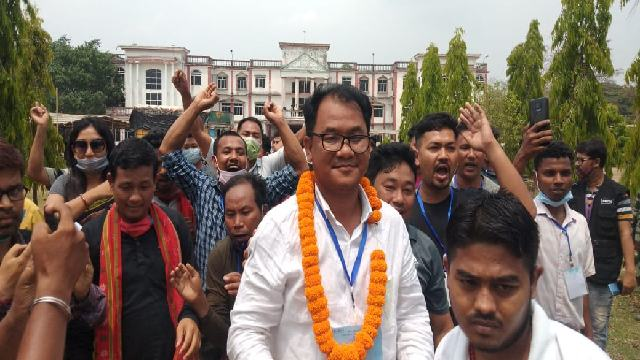News Headline Apr 10, 2021: Journalist turned politicial, Kamal Kaloi of TIPRA Motha defeats his nearest rival Gita Debbarma of IPFT in 11 no. Maharanipur-Teliamura seat by around 10,000 votes.